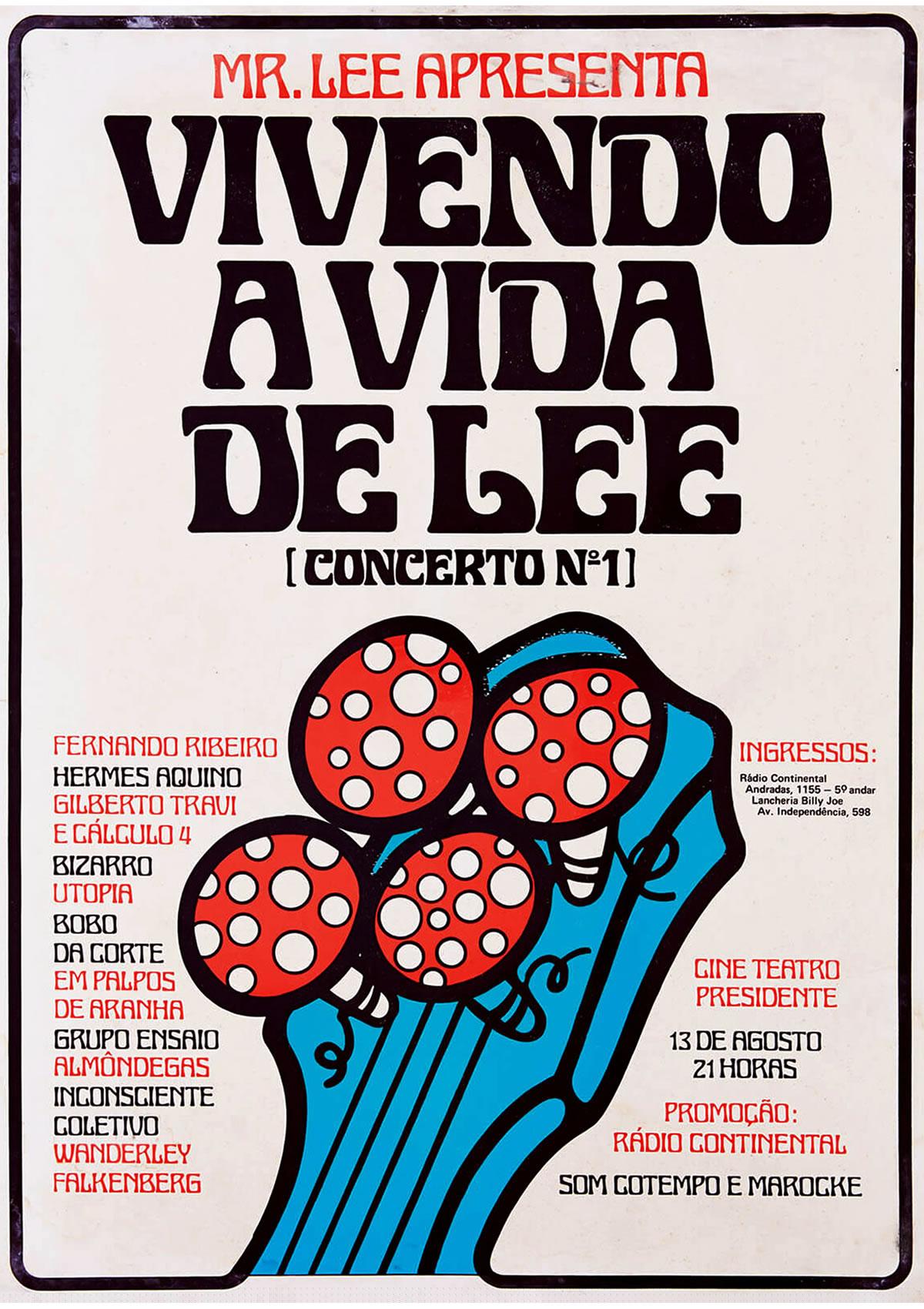 [ACERVO] Poster 'Vivendo a Vida Lee Concerto nª 1', 1975