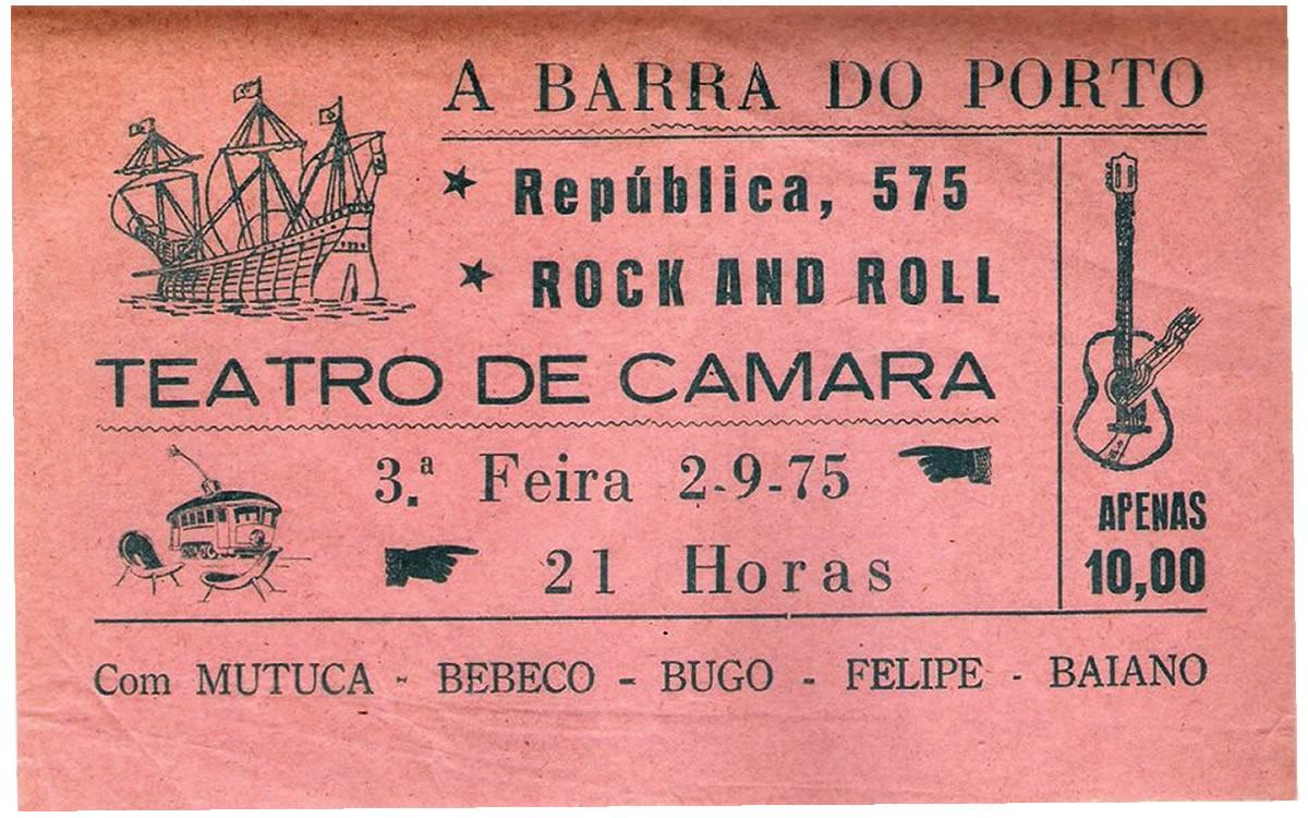 [ACERVO] Ingresso para o show da banda 'A Barra do Porto', 1975