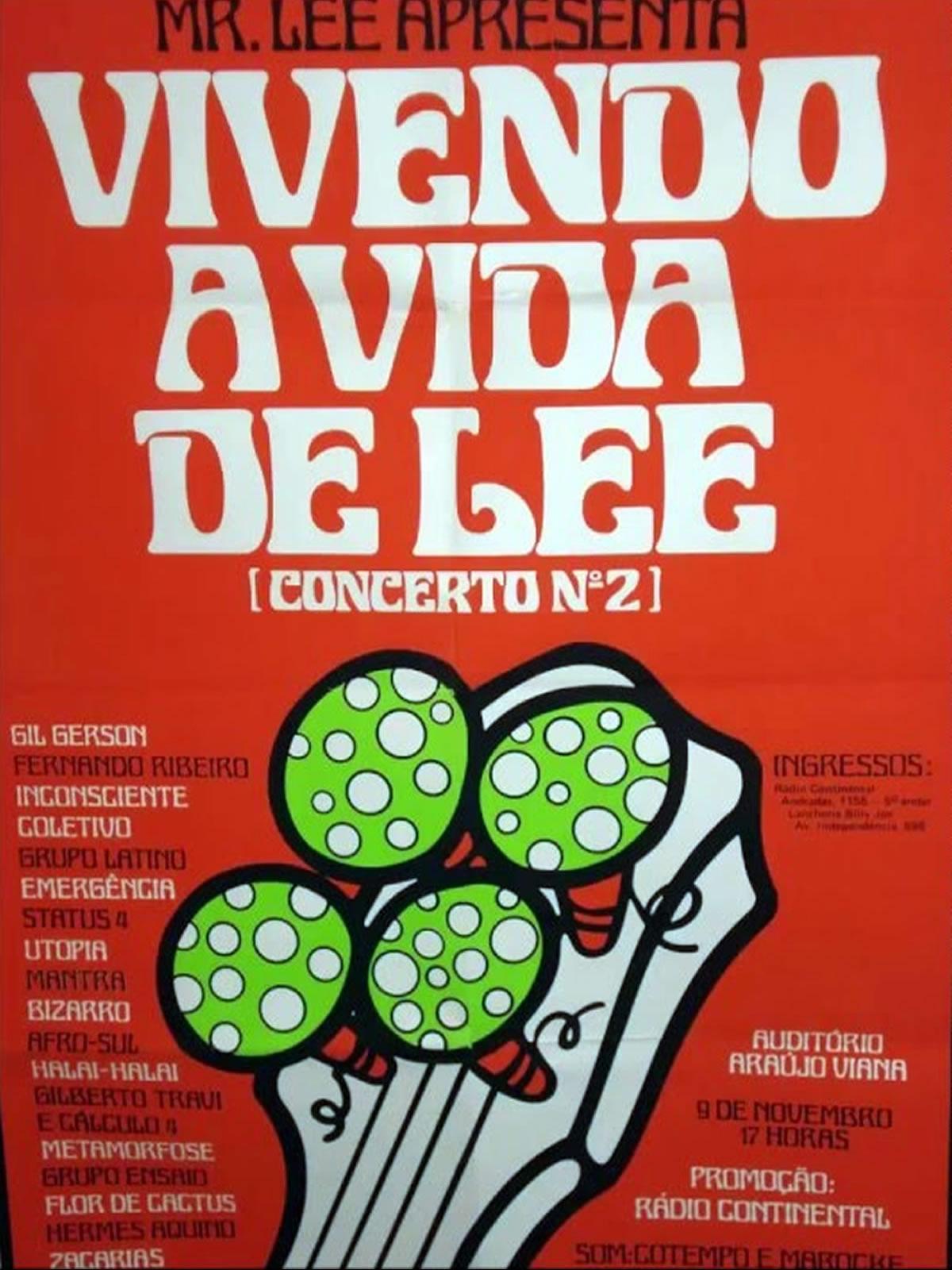 [ACERVO] Poster do 'Vivendo a Vida Lee Concerto nº 2, 1975