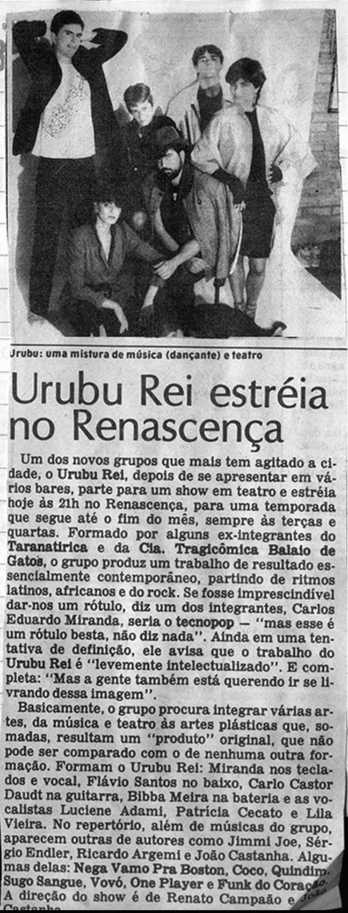 [PRESS] Urubu Rei estreia no Renascença