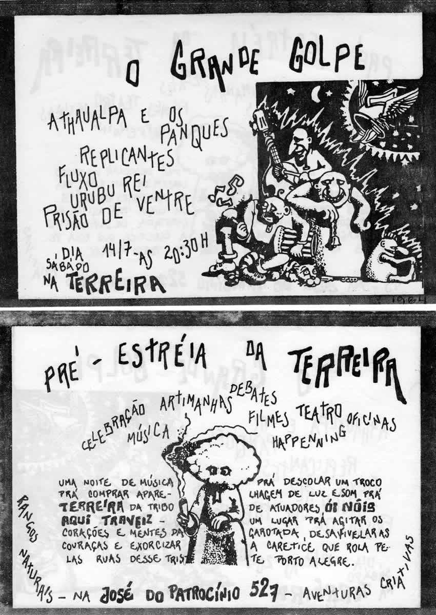 [ACERVO] Flyer de divulgação da estréia da Terreira da Tribo