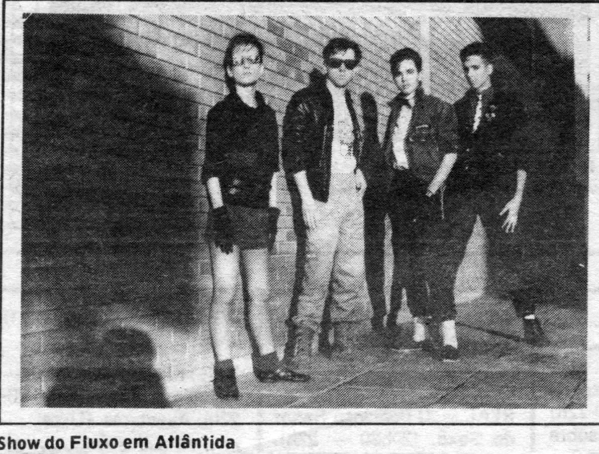 [PRESS] Rock New Wave da Banda Fluxo na Danceteria Atlântida