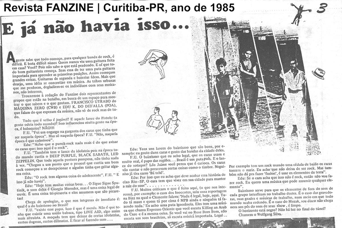 [PRESS] Revista Fanzine de Curitiba - PR, sobre o DEFALLA