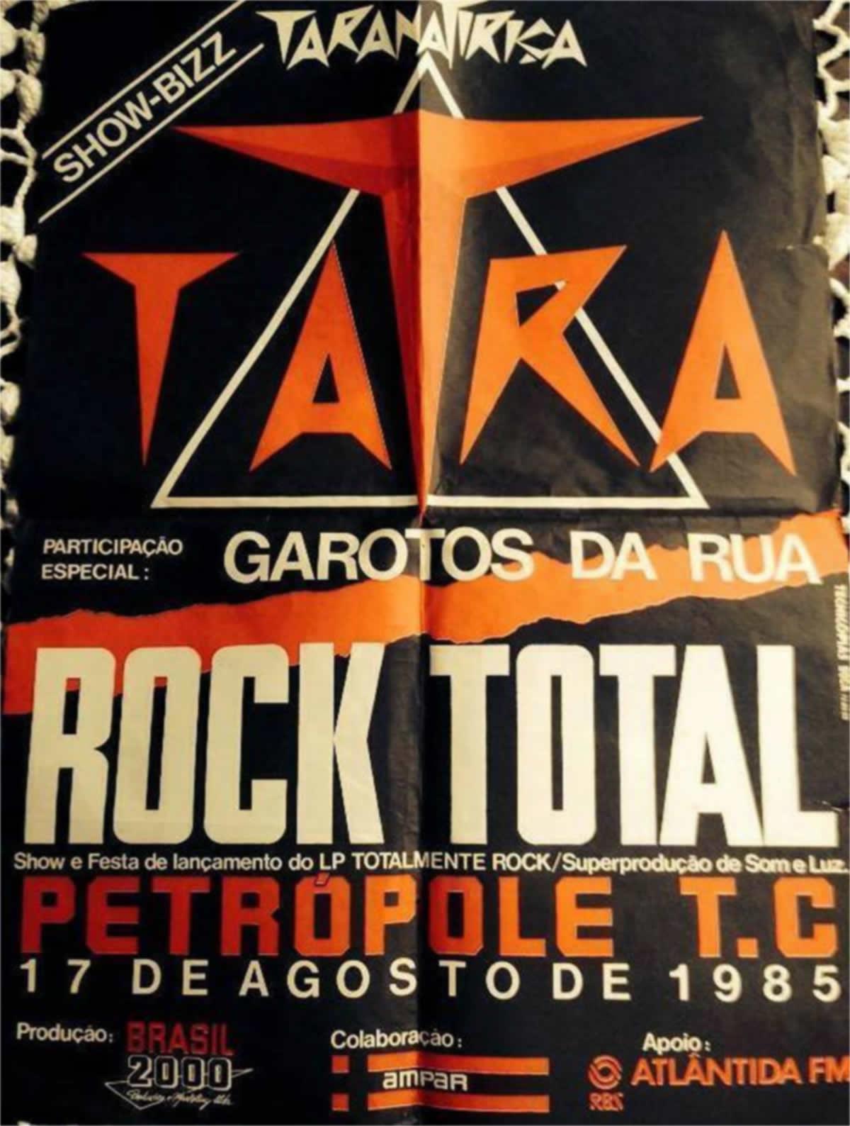 [ACERVO] Poster, lançamento 'Totalmente Rock', Taranatiriça