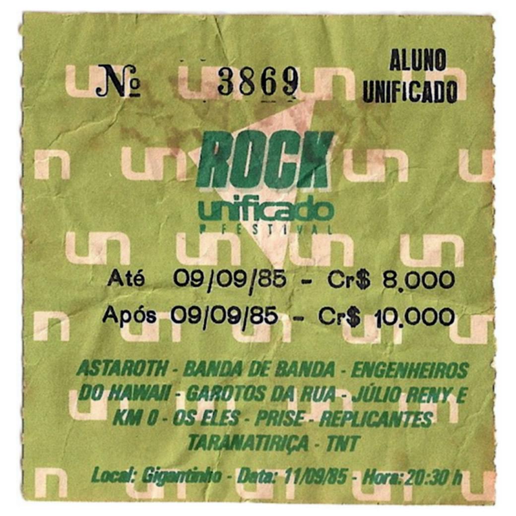 [ACERVO] Vale desconto de ingresso: 'Primeiro Festival Rock Unificado'