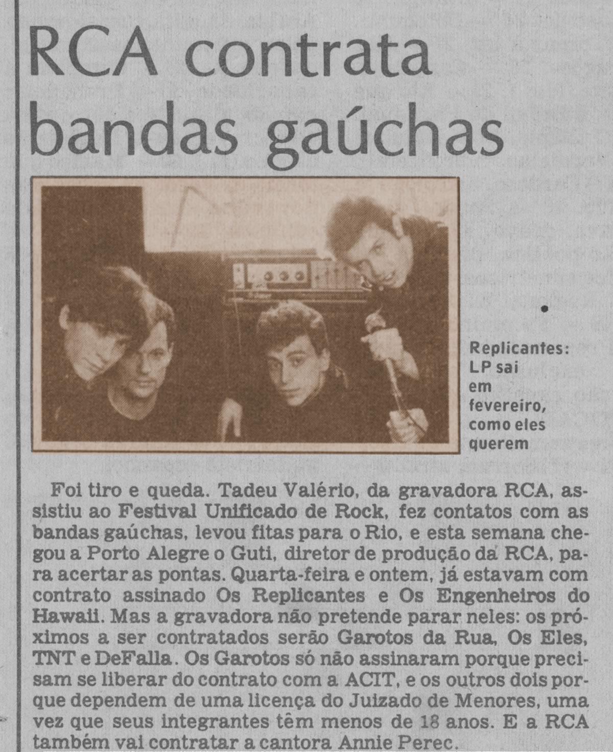 [PRESS] RCA contrata Bandas para Coletânea 'Rock Grande do Sul'