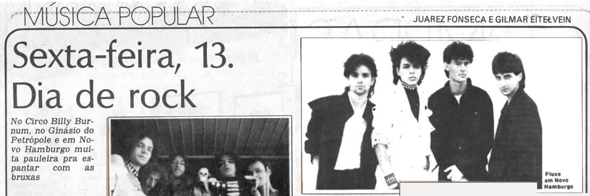 [PRESS] Sexta Feira 13 é Dia de Rock (Gaúcho)