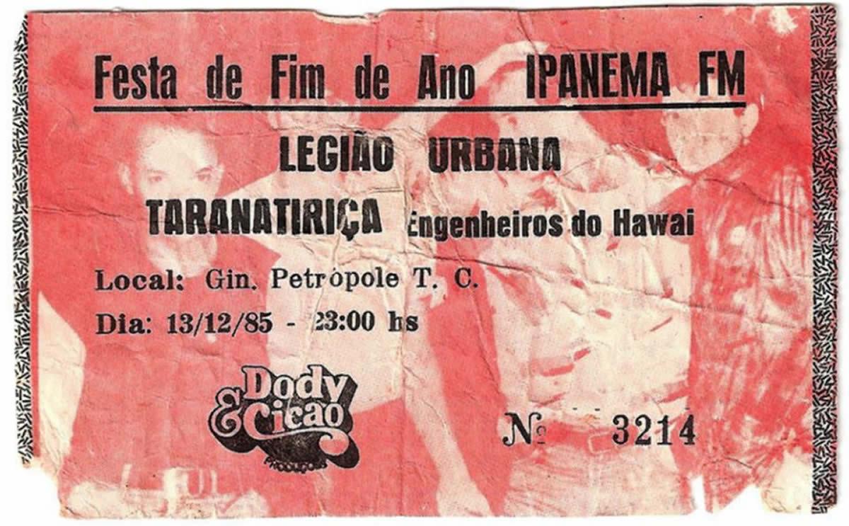 [ACERVO] Festa de fim de ano rádio Ipanema: 'Tara' e 'Engenheiros'