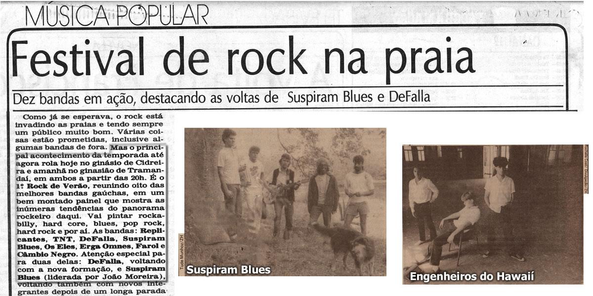 [PRESS] Show coletivo na praia: Rock de Verão 1987