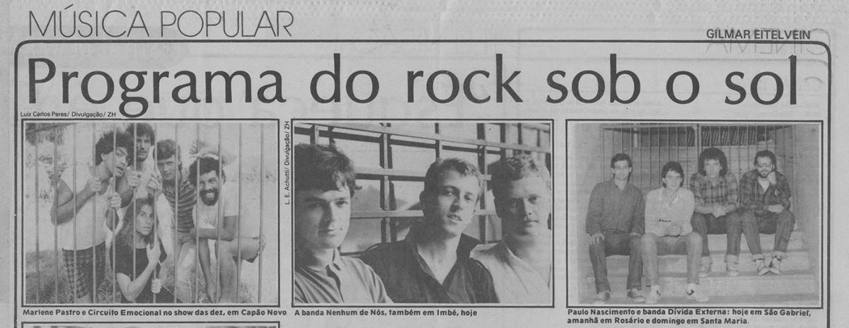 [PRESS] Sob o sol: shows de bandas do rockgaúcho no 'Verão 87'.
