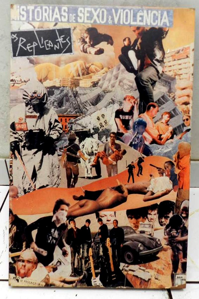 [ACERVO] Poster do disco de Os Replicantes, 'Histórias de Sexo & Violência'