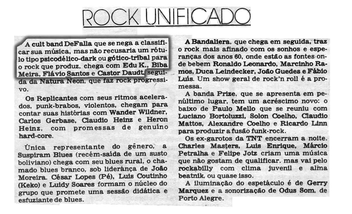 [PRESS] O Rock Unificado III: curiosidades sobre as bandas