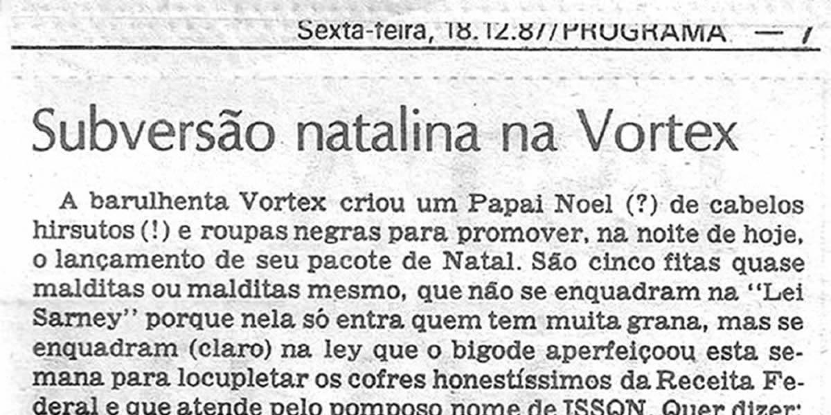 """[REVIEW] Subversão natalina na Vortex: """"Cinco fitas quase malditas"""""""