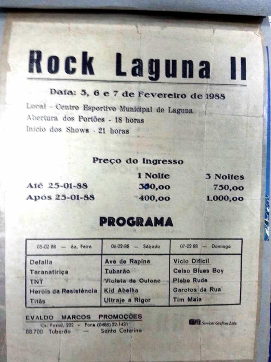 [ACERVO] Poster do Rock Laguna II - 3 Dias de shows