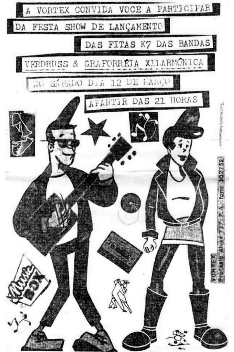 [ACERVO] Poster de lançamento: Graforréia Xilarmônica e Verdruss
