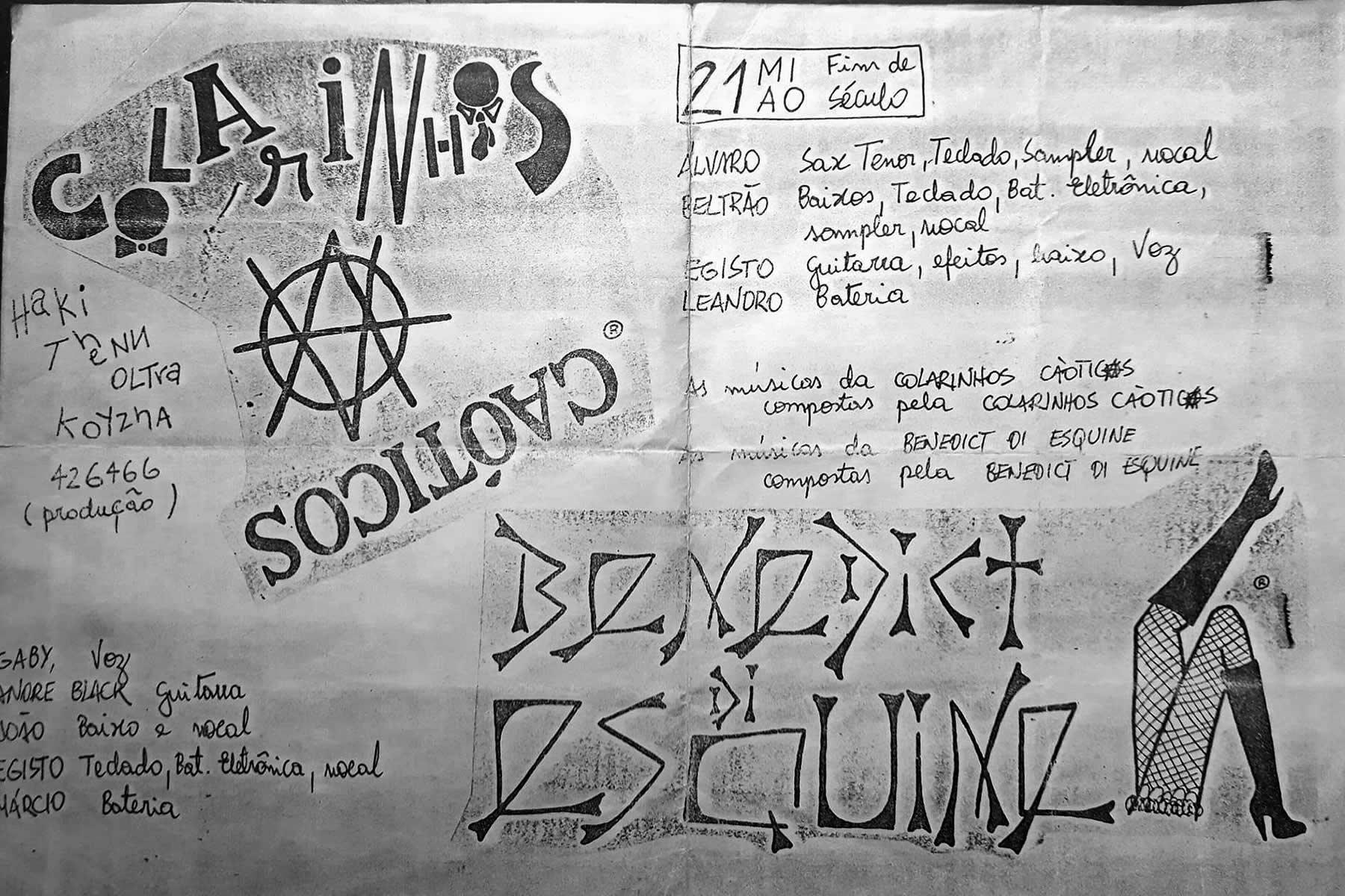 [ACERVO] Flyer: Colarinhos Caóticos e Benedict di Esquini