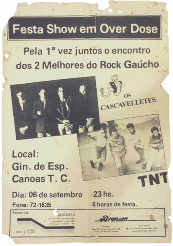 [ACERVO] Poster Show com TNT e CASCAVELLETES e recorte de jornal O Timoneiro