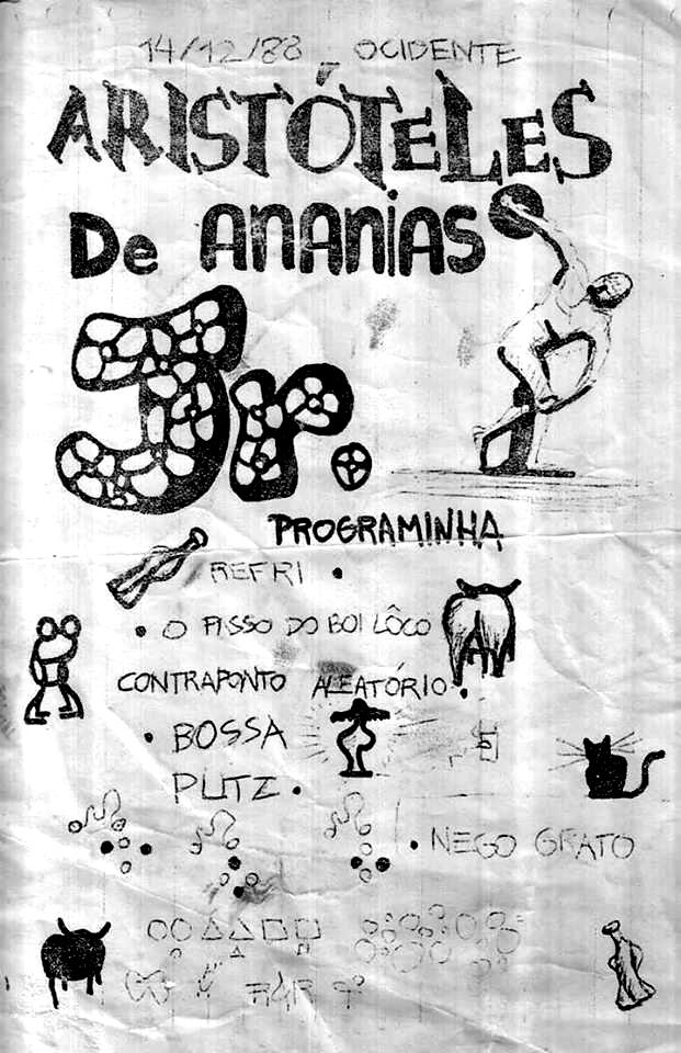 [ACERVO] Cartaz de show da estreia do Aristóteles de Ananias Jr