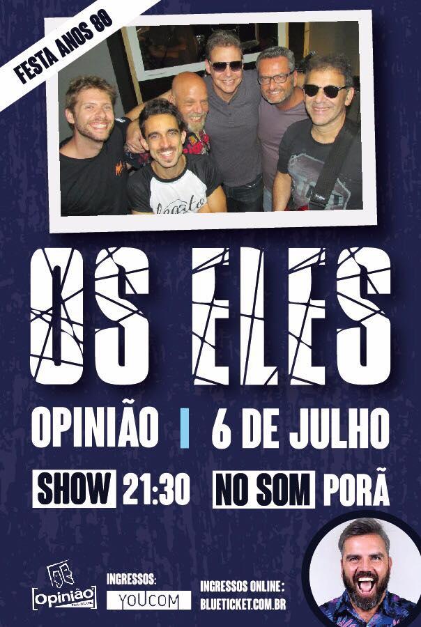 [ACERVO] Flyer de show da banda OS ELES, 2017